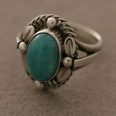 Gallery 925 - Georg Jensen Sterling Silver Ring, with Amazonite Stone, no. 1