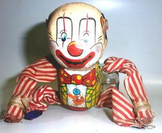#vintage 1950-60 S' Tin Toy Clown Stretched Japan  from $24.99