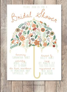 Pin and save: Pin this link and use code THANKS4PINNING to save 10% on your purchase!  https://www.etsy.com/listing/228533704/bridal-shower-invitation-umbrella-bridal?ref=shop_home_active_7