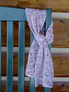 ScarfHandknit Lightweight Bamboo YarnLilacPink by CabinLil on Etsy, $25.00