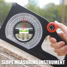 Introducing the Multi-function Slope Measuring Instrument, an accurate slope measuring ruler. The graduated rotating wheel is used to adjust the position of the bubble in the level pipe. Clear scale, a large number of the readable disc, easy to read. Life Hacks Diy, Useful Life Hacks, Homemade Tools, Diy Tools, Measuring Instrument, Construction Tools, Garage Tools, Garage Ideas, Diy Home Repair