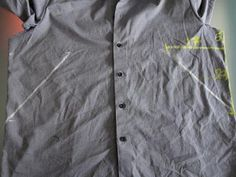 Altering a man's shirt for a lady