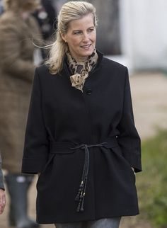 Sophie, Countess of Wessex during a visit to Remus Memorial Horse Sanctuary on October 14, 2015 in Ingatestone, Essex.