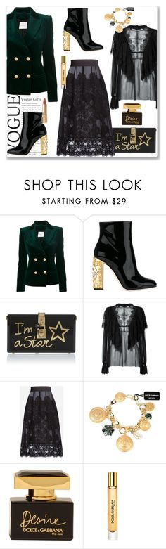 """""""Goodbye for now"""" by lidia-solymosi ❤ liked on Polyvore featuring Pierre Balmain, Dolce&Gabbana and polyvoreeditorial"""