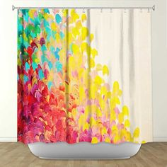 CREATION IN COLOR Fine Art Painting Shower Curtain by EbiEmporium, $89.00