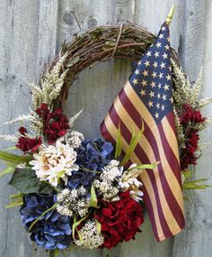 Americana Glory and Honor Wreath by procelebrations on Etsy, $89.00