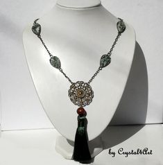 The statement necklace with bronze pendant and tree agate stones gives a touch of personality and uniqueness to your office or casual outfits. See more of my creations on Tree Agate, Bronze Pendant, Agate Stone, Jewerly, Personality, Casual Outfits, Stones, Touch, Handmade