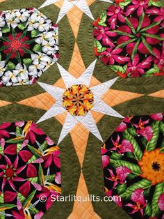 Starlitquilts  - Hawaiian stack and whack