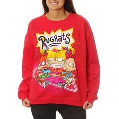 Nickelodeon Juniors' Rugrats Group Shot Neon Crewneck Graphic Sweatshirt