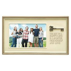 Family and Friends Photo Frame THE KEY TO A HAPPY LIFE $19.00