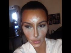 Kim Kardashian Contouring and Highlighting Tutorial - YouTube