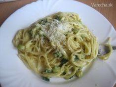 Cuketa à la carbonara Italian Recipes, Spaghetti, Good Food, Food And Drink, Low Carb, Tasty, Dinner, Ethnic Recipes, Carbonara Recept