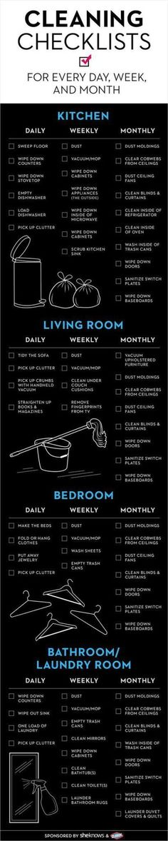 Cleaning Checklist - Have you done it - Life Hacks Diy Cleaning Products, Cleaning Solutions, Cleaning Hacks, Deep Cleaning, Norwex Products, Room Cleaning Tips, Cleaning Quotes, Kitchen Cleaning, Cleaning Services