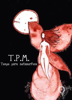 Paloma ilustrada: Desde el útero- Arte menstrual 6: TPM