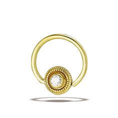 Fixed Bead Rings – Body Gems Gold Body Jewellery, Body Jewelry, Beaded Rings, Gemstone Rings, Peridot, Amethyst, Pearl White, White Gold
