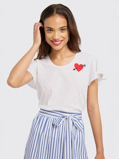 We're in love with this tee from the Draper James Valentine's Day collection.