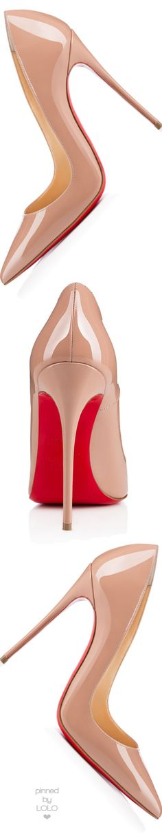 Christian Louboutin So Kate Patent 120mm Red Sole Pump, Nude | LOLO❤︎