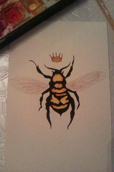 queen bee done in watercolour :)