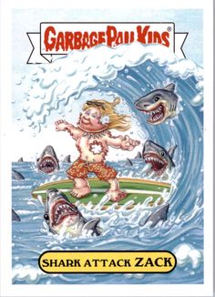 Beckett provides you latest pricing on 2016 Garbage Pail Kids Apple Pie Shark Attack Zack Garbage Pail Kids Cards, Classic Monsters, Childhood Days, Kids Board, Cabbage Patch Kids, Kids Stickers, Kids Corner, Art For Kids, Apple Pie