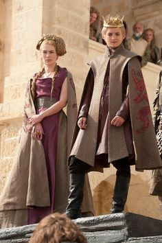 Lena Headey as Cersei Lannister and Jack Gleeson as Joffrey Baratheon in Game of Thrones - Season 1