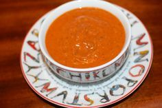 Creamy Paleo Tomato Soup {easy & dairy-free} 1 TB coconut oil 1/2 cup ...