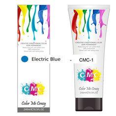 CMC SEMI-PERMANENT HAIR COLOUR – ELECTRIC BLUE (240ml) – Glitter Box Beauty