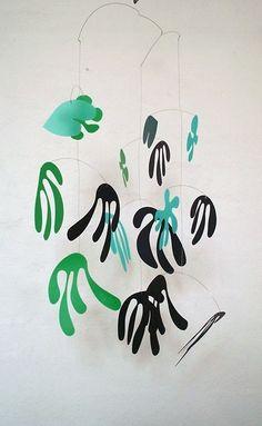 Kinetic mobile  Marine large  seaweed colours by pukapuka on Etsy