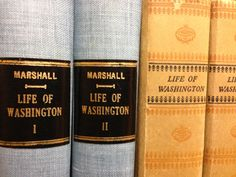 "Former Chief Justice John Marshall (1755-1835)'s account of the life of George Washington offers a unique perspective on both the president and the battles of the Revolutionary war, as Marshall was not only Washington's contemporary,  but served under him in the army.  The Research Center has a 2-vol. set of the 2nd ed., revised by the author in 1832, pub. in Philadelphia in 1848, and a 1926 reprint ed. of the original 5-vol. set (1804-1807) which also includes his ""History of the Colonies""."