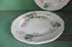 Vintage Floral Desert Plates