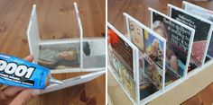 DIY Desk Organizer --10 Ways to Repurpose CDs & CD Cases | Brit + Co. Awesome ideas here!