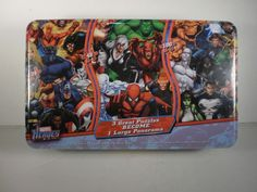 MARVEL HEROES 3 Great Puzzles Become 1 Lg Panorama in Collectors Tin 172 pieces. ebsAmerica