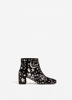 ef4d03d0b Stars embroidered ankle boots Star Boots