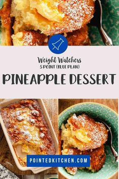 This tasty pineapple dessert is just 5 Smart Points per portion on Weight Watchers Blue, Purple Pineapple Pudding, Pineapple Desserts, Weight Watcher Cookies, Weight Watchers Desserts, Ww Desserts, Dessert Recipes, Sugar Free Pudding, Weight Watchers Chicken, Pudding Recipes
