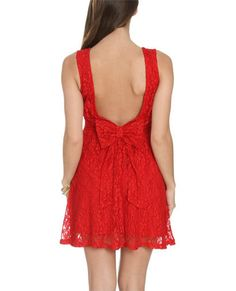 Low Bow Lace Dress | Shop Trending Now at Wet Seal