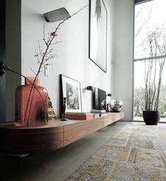 Living Room Tv, Interior Design Living Room, Home And Living, Living Room Designs, Interior Decorating, Living Room Inspiration, Interior Inspiration, Muebles Living, Appartement Design