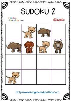 Fichas para mejorar la atención SODOKUS 4×4 con soluciones – Imagenes Educativas Stone Age Art, Busy Bags, 4x4, Comics, Learning, Kids, Bingo, Puzzles, Camping