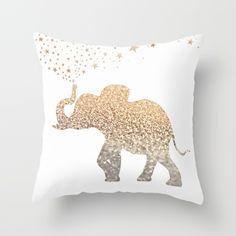 ELEPHANT Throw Pillow by Monika Strigel   Society6