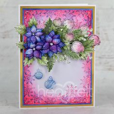 Christmas Branches, Heartfelt Creations, Floral Wreath, Wreaths, Flower Shape, Greeting Cards Handmade, Cardmaking, Frame, Vibrant Colors