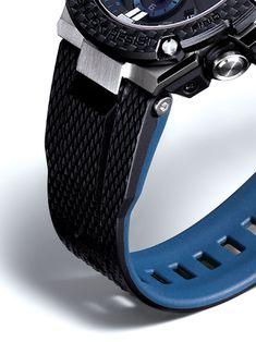 G-SHOCK G-STEEL GSTB100XA-1A Men's Watch Black G Shock Watches, Casio G Shock, Watches For Men, Pioneer Decks, Solar Powered Led Lights, Sporty Look, Out Of Style, Metal Bands