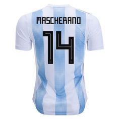 adidas Javier Mascherano Argentina Authentic Home Jersey 2018