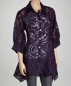 Take a look at this Plum Swirl Sidetail Jacket by Come N See on #zulily today!