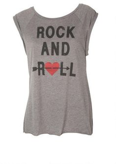 ROCK AND ROLL TEE - View All Tops - Tops - Clothing - Alloy Apparel