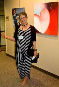Photo of resident artist, Phyllis Sharpe