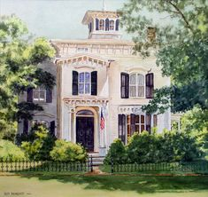 "Ruth Newquist, New England Watercolor, ""A Newtown Treasure"""