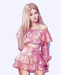 Adaline on Kiss and make, kiss, kiss and make up Women's Dresses, Wallpaper Rose, Vintage Rosen, Blackpink Poster, Black Pink Kpop, Fashion Design Sketches, Kiss Makeup, Blackpink Photos, Blackpink Fashion