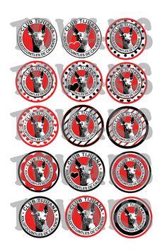 Club Tijuana Xoloitzcuintles de Caliente bottle cap images Xolos de Tijuana 4x6 template Mexico soccer fútbol