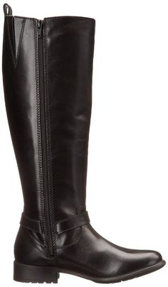 Clarks Women's Plaza Market Riding Boot, Black Leather, ...