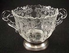 depression glass by the Cambridge Glass Company 1940's- Chantilly pattern