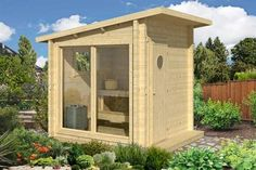 Bilderesultat for badstue byggesett Diy Sauna, Sauna Ideas, Micro House Plans, Modern House Plans, Garden Huts, Sauna House, Outdoor Sauna, Sauna Design, Bike Shed