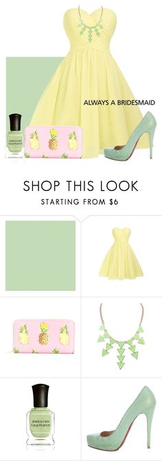 """Pastel Bridesmaid"" by mongryong ❤ liked on Polyvore featuring Dolce&Gabbana, Deborah Lippmann and Christian Louboutin"
